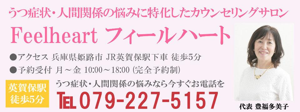 兵庫県姫路市でうつ病・人間関係の悩みに特化した心理カウンセリングサロン フィールハート